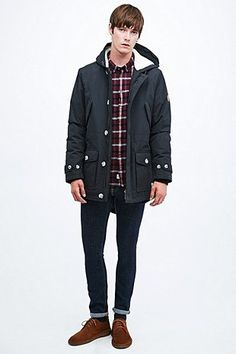 Shore Leave by Urban Outfitters Dane Parka in Black