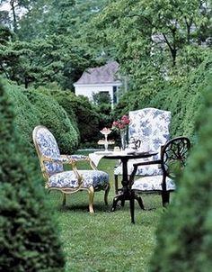 Sepia Smiles: rustic garden furniture ideas