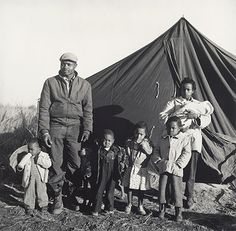 Tent City Family (from the portfolio I Am a Man): 1961 by Ernest C. Withers - gelatin silver print - Viewed as part of the Exhibit: People Get Ready: 50 Years of Civil Rights (Toledo Museum of Art, Toledo, OH) (August, 2014) - This image broke my heart.  This family was evicted for voting in 1960 in Fayette County Tennessee.