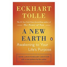 A New Earth: Awakening to Your Life's Purpose (Oprah's Book Club, Selection by Eckhart Tolle - Penguin Up Book, Book Club Books, Good Books, Books To Read, Book Nerd, Amazing Books, Earth Book, New Earth, Reading Lists