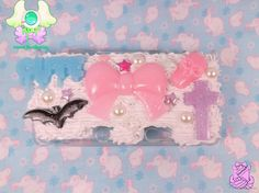 Pastel Kawaii Decoden Case for 3DS by rarasjewels on Etsy, $25.00  #kawaii #decoden #3DS