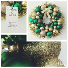 Emerald green & traditional gold