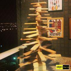 Finalmente... Minha árvore de Natal de Madeira!!!
