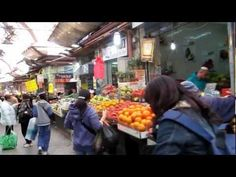 Open air outdoor market, Mahane Yehuda, in Jerusalem, for exotic foods, olive oil, wine, religious items, cool cafes - be sure to include a visit on your walking tour of Jerusalem.