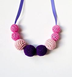Crochet Necklace Valentines day gift Free by Simplyacircle on Etsy, $20.00