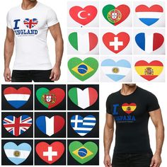 0bec092a3d65 Redbridge Herren T-Shirt Tshirts Slim-Fit I Love My State WM Trikot Fan