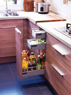 New kitchen cabinets will give a fresh look to your kitchen. Discover the collection of cabinets offered at Jbirdny. Kitchen Pantry, Diy Kitchen, Kitchen Storage, Kitchen Decor, Kitchen Cabinets, Kitchen Walls, Kitchen Drawers, Cupboards, Kitchen Island