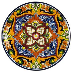Mexican Talavera pottery collection of hand painted Mexican ceramic flower pots and vases, decorative wall art and dinnerware. Ceramic Painting, Ceramic Art, Pottery Painting, Mexican Ceramics, Talavera Pottery, Tuile, Native American Pottery, Mexican Folk Art, Hand Painted Ceramics