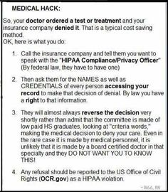 How to get how to get a reversal of a denied Medical payment buy insurance