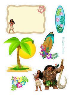 Moana Birthday, Princess Birthday, Moana Party, Bunting Flags, Heart For Kids, Luau Party, 2nd Birthday Parties, Party Printables, Bolo Moana