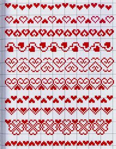 27 Fantastic Designs For Cross Stitch Boarders, Cross Stitch Heart, Cross Stitch Alphabet, Cross Stitch Flowers, Cross Stitch Designs, Cross Stitching, Cross Stitch Embroidery, Cross Stitch Patterns, Knitting Charts