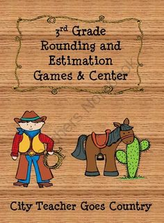 Rounding Center and Games - Estimation from City Teacher Goes Country on TeachersNotebook.com -  (22 pages)  - Two math games and one math center on rounding! Focused on 3rd grade.