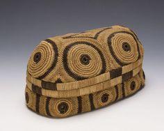 Africa | Kasai Basket. DR Congo | 1920s-1930s | Raffia
