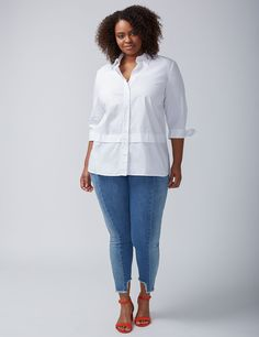 6cce055a4893e0 Amp up your look with Lane Bryant s plus size blouses and dressy tops. Go  from work to weekend with our versatile plus size peasant tops and other  dressy ...