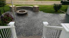 Concrete Patios, Stamped Concrete, Sidewalk, Backyard, Landscape, Country, Outdoor Decor, Ideas, Home Decor