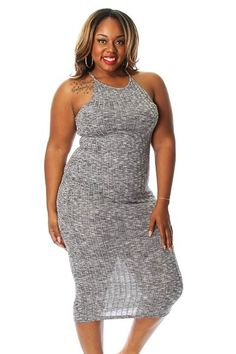 Plus Size Knit Ribbed Midi Dress Pink Clubwear, Robes Midi, Plus Size Women, Curves, Bodycon Dress, Culture, Formal Dresses, Knitting, Chic