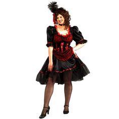 Plus Size Saloon Girl Costume - Adult Plus, Multicolor