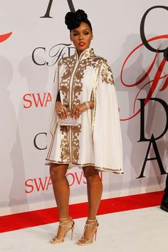 Janelle Monae in Tadashi Shoji All of the Photos From the CFDA Awards Red Carpet - Gallery - Style.com