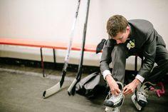 Photo of the Groom #Hockey #Wedding #Photography