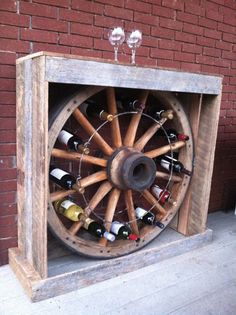 Awesome wine rack made from Tennessee Wood Flooring reclaimed barnwood!