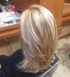 Blonde highlights with copper low lights! STYLE OF CUT I LIKE… Blonde highlights with copper low lights! STYLE OF CUT I LIKE http://www.nicehaircuts.info/2017/06/09/blonde-highlights-with-copper-low-lights-style-of-cut-i-like/