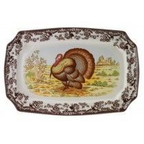 Spode Woodland Rectangular Platter 17.5 inch (Turkey)