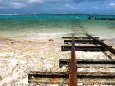 Train to Atlantis, Santa Lucia Beach, Camagüey province, Cuba
