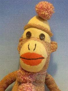 My Great Grandmother made one of these for me when I was a child. I love them to this day... 1950s Estate Sale Vintage Sock Monkey Excellent Hand Stitched Old Doll | eBay
