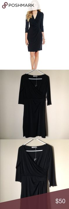 """NWT The Limited black wrap dress From their """"Travel Collection"""" this dress is actually perfect for travel - it's got that awesome wrinkle resistant material (100% polyester)😉 machine washable The Limited Dresses"""