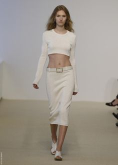 must have CROP SWEATER from CALVIN KLEIN COLLECTION RESORT 2014!