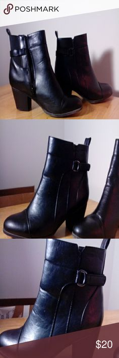 black boots 9W Catherines Black heeled boots, 9wide , dress boot Catherines Shoes Ankle Boots & Booties