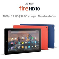"""Happy Birthday to me! Fire HD 10 Tablet with Alexa Hands-Free, 10.1"""" 1080p Full HD Display, 32 GB, Marine Blue – with Special Offers  #kindle #kindlefire #kindlefire10 #tablets #tech #gadgetgirl"""
