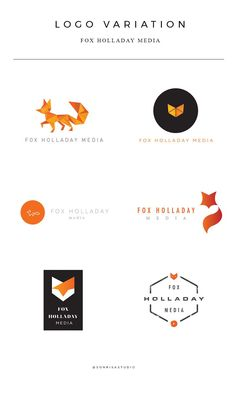 Logo design variation and concepts for media company. Fox brand identity.
