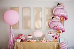 Flamingo themed birthday party via Kara's Party Ideas KarasPartyIdeas.com #flamingoparty (18)