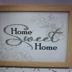 Home Sweet Home, Sparkle Word Art Pictures, Quotes, Sayings, Home Decor