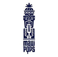 Maui Pops is a popsicle store on the island of Maui, Hawaii. As we began to explore the task we were attracted to a truly Hawaiian character — Tiki. Corporate Identity Design, Brand Identity Design, Branding Design, Identity Branding, Brochure Design, Visual Identity, Food Logo Design, Vintage Logo Design, Logo Inspiration