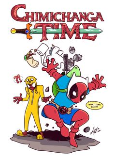 #Deadpool #Fan #Art. (Chimichanga time) By: Lucas Sina. (THE * 3 * STÅR * ÅWARD OF: AW YEAH, IT'S MAJOR ÅWESOMENESS!!!™) [THANK U 4 PINNING!!!<·><]<©>ÅÅÅ+(OB4E)