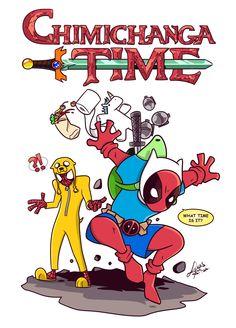 #Deadpool #Fan #Art. (Chimichanga time) By: Lucas Sina. ÅWESOMENESS!!!™ ÅÅÅ+