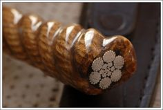 Excellent idea for a handle! Integral Cable Damascus Criollo Knife with Rope Handle - The Knife Network Forums : Knife Making Discussions