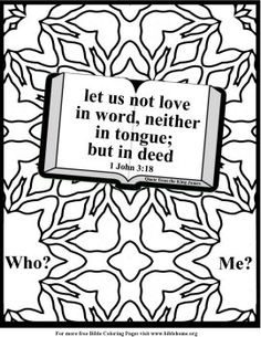 Coloring Pages for Kids by Mr. Adron: For Me To Live Is