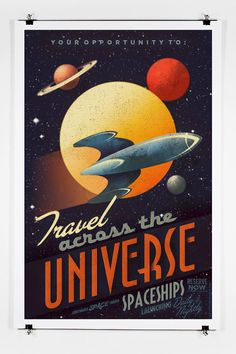 Across The Universe 13 x 19 Vintage Poster by twenty21onecreative