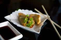 A delicious trio of Gyozas, enjoyed at Sushi Raku! (April 3, 2012, Concord, CA)
