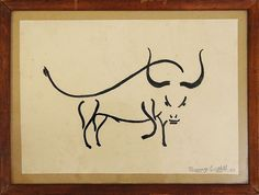 Jeremy Griffith's Ink Drawing of a bull in 1962, age 16. See a small collection of the many simple, instinctive line drawings to creative masterpieces by WTM Founder and biologist, Jeremy Griffith at: http://www.worldtransformation.com/jeremy-art-work/