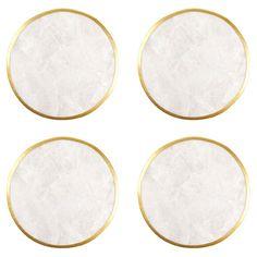 Round Mother-of-Pearl Coaster (Pack of 4) - Coasters - Tableware | Zara Home Sverige / Sweden