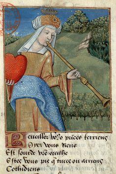 """LA CARIDAD """"Las tres trompetas"""" Biblia Gutenberg. Bibliothèque Mazarine, París. Edición completa en papel"""