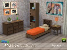 Sims 4 CC's - The Best: xyra Amelia bedroom set
