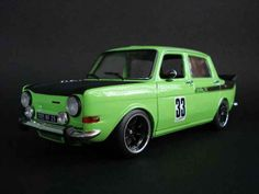 Miniature Simca 1000 rallye 2 verte tuning Norev. Simca 1000 rallye 2 ...