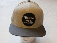 66a692ea02c9b Brixton Mens Wheeler Snap Back Light Heather Grey charcoal One Size for  sale online