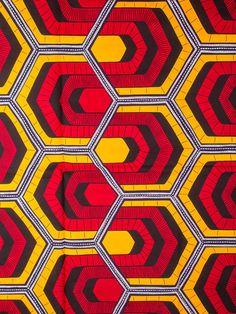 African Fabric Real Wax Print 6 Yards 100% Cotton rw134307