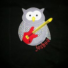 Owl guitar shirt...one of my favorite appliqués!
